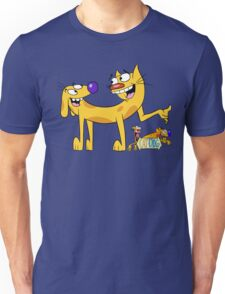 Cat Dog - Cartoon Unisex T-Shirt