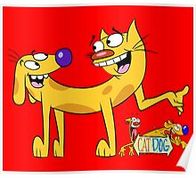 Cat Dog - Cartoon Poster