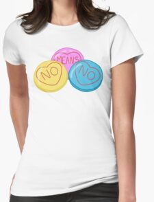 Don't you know what no means?  Womens Fitted T-Shirt