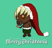 Zelda Christmas Card: Peppermint Deku Scrub by Alice Edwards