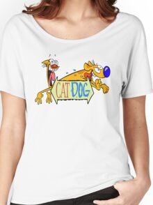 Cat Dog - Cartoon Women's Relaxed Fit T-Shirt