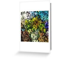 letter sunflowers Greeting Card
