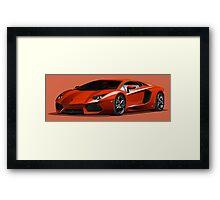 Realistic Lamborghini Framed Print