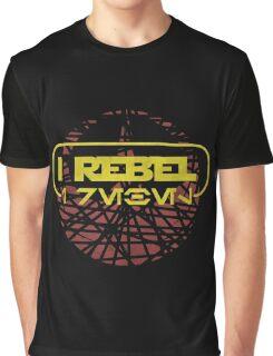 rogue one- I rebel in Aurebesh Graphic T-Shirt