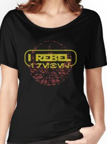 rogue one- I rebel in Aurebesh Women's Relaxed Fit T-Shirt