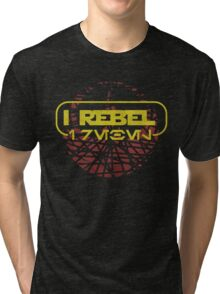 rogue one- I rebel in Aurebesh Tri-blend T-Shirt