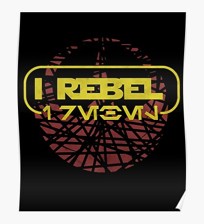 rogue one- I rebel in Aurebesh Poster