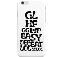 Easy Defeat Troll Black Text iPhone Case/Skin