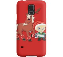Zelda Christmas Card: Link and Epona Samsung Galaxy Case/Skin