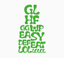 Easy Defeat Troll Green Text Unisex T-Shirt