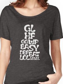 Easy Defeat Troll White Text Women's Relaxed Fit T-Shirt
