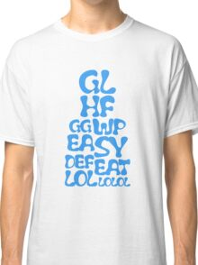 Easy Defeat Troll Blue Text Classic T-Shirt