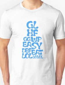 Easy Defeat Troll Blue Text T-Shirt