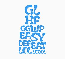 Easy Defeat Troll Blue Text Unisex T-Shirt