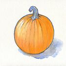 Pumpkin Study by Roz Abellera Art