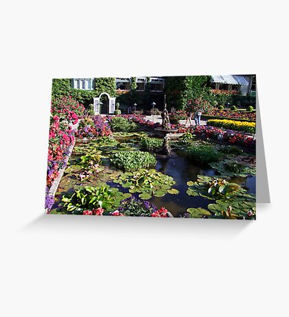 Italian Garden at the Butchart Gardens Greeting Card
