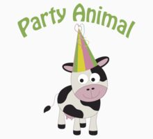 Party Animal cow Kids Tee