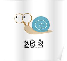 Blue Shelled Snail 26.2 Poster