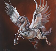 On the wings of Pegasus by Lynette Orzlowski