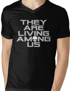 Aliens are living among us Mens V-Neck T-Shirt
