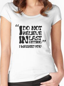 My AD Carry Excuse Black Text Women's Fitted Scoop T-Shirt
