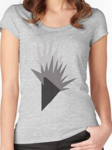 Geometric Flame Women's Fitted Scoop T-Shirt