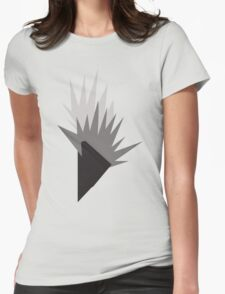 Geometric Flame Womens Fitted T-Shirt