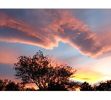 Pastel-Colored Nevada Sunset Photographic Print