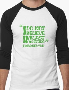 My AD Carry Excuse Green Text Men's Baseball ¾ T-Shirt