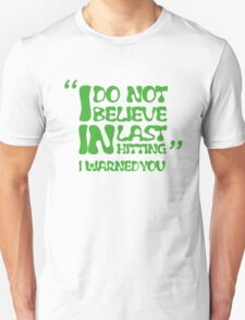 My AD Carry Excuse Green Text T-Shirt
