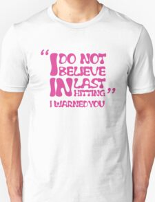 My AD Carry Excuse Pink Text T-Shirt