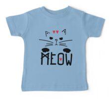 Meow Meow Meow on Baby Tee