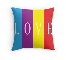 Multicoloured Love Throw Pillow