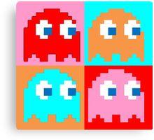 Pacman Ghosts Pop Art Canvas Print