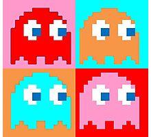 Pacman Ghosts Pop Art Photographic Print