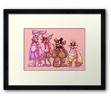 The Fazbear friends! Framed Print