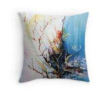 Original Landscape Tree Abstract Painting Modern Contemporary Fine Art  Throw Pillow