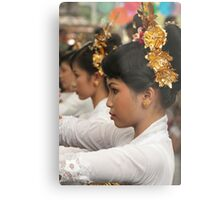 Girls in Marching Contest Metal Print