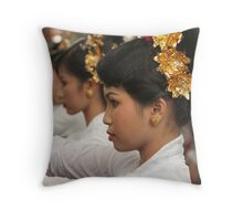 Girls in Marching Contest Throw Pillow