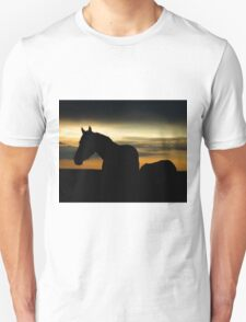 Silhouette of Wild Horse Mare - 40515 Unisex T-Shirt