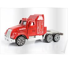 Isolated red toy truck  Poster