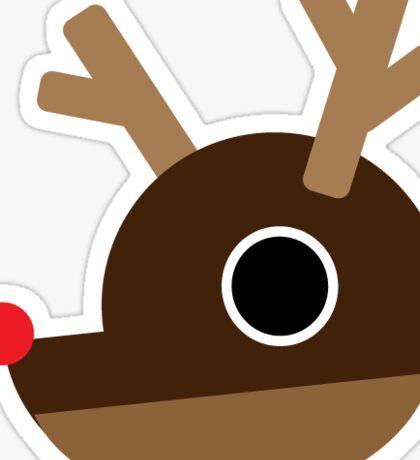 RUDOLPH Reindeer Face, Flat Design Sticker