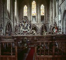 Screen and Nave Abbey Dore England 198405170050 by Fred Mitchell