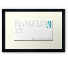 Evangelion 3.33 Title card Framed Print