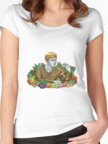 Kieren and Vegetables Women's Fitted Scoop T-Shirt