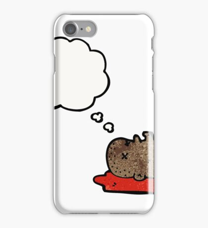 cartoon severed head iPhone Case/Skin