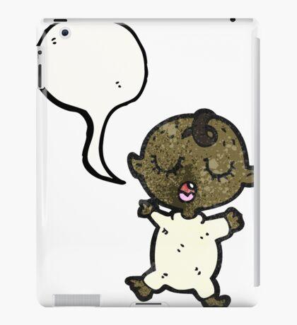 cartoon baby with speech bubble iPad Case/Skin