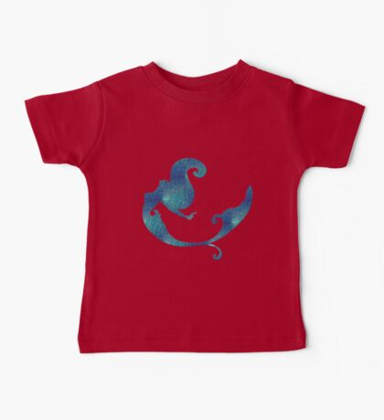 Aqua iridescent mermaid  Baby Tee