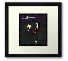 Buffy vs. Marceline Framed Print