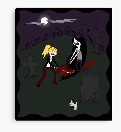 Buffy vs. Marceline Canvas Print